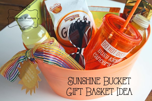 Sunshine Gift Basket Ideas for a friend doing cancer treatments but would work for any occasion