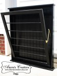 Wall mounted laundry drying rack in black