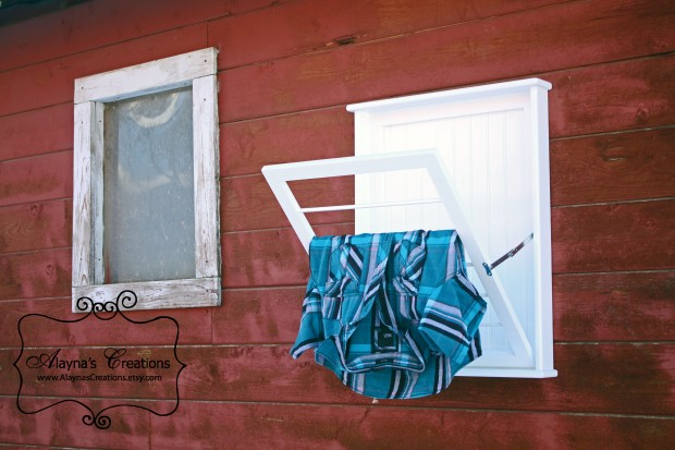 Wall Mounted Laundry Drying Rack Small