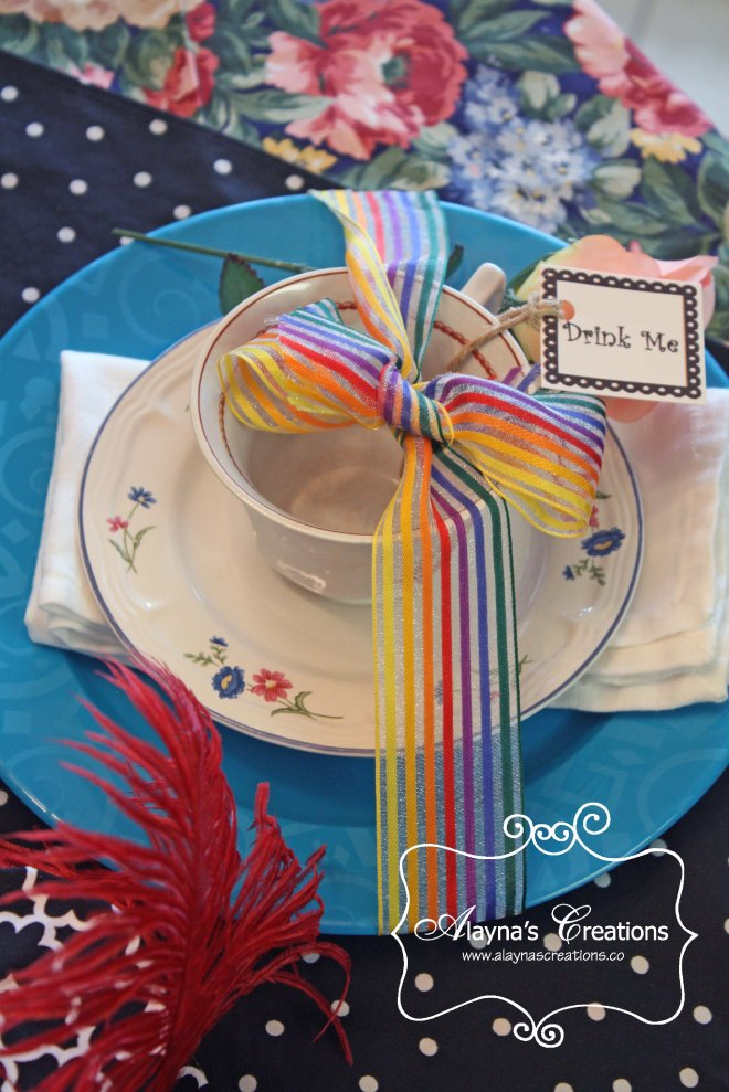 30th Birthday Unbirthday Tea Party Place Setting