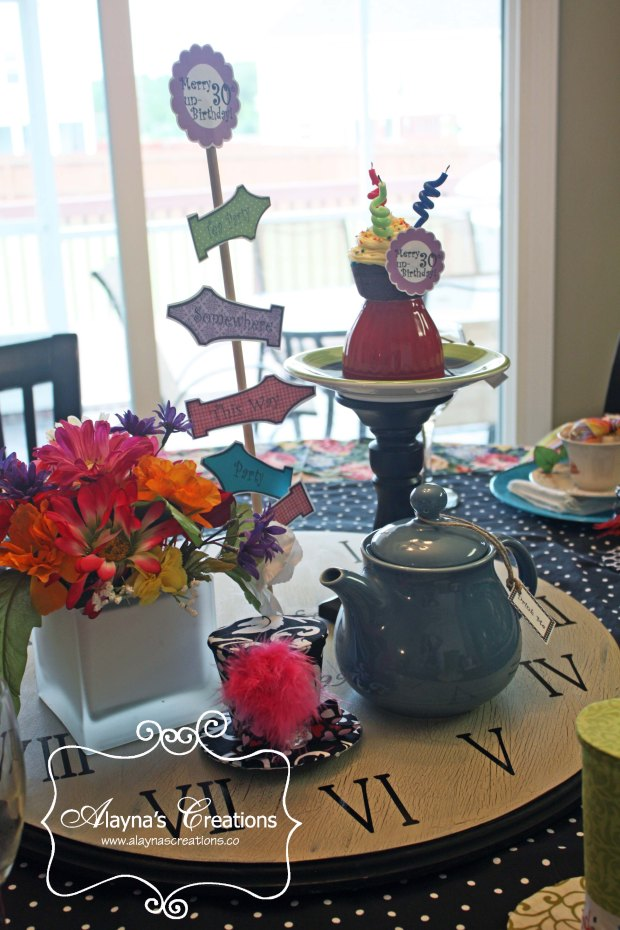 30th Unbirthday Alice In Wonderland Birthday Party Tablescape