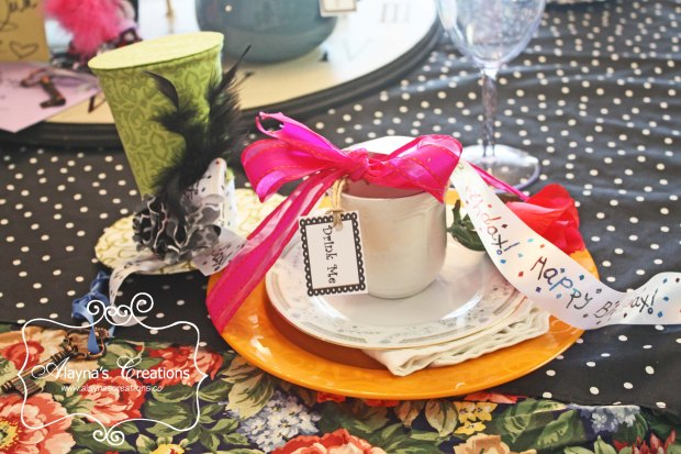 30th Unbirthday Tea Party Place Setting