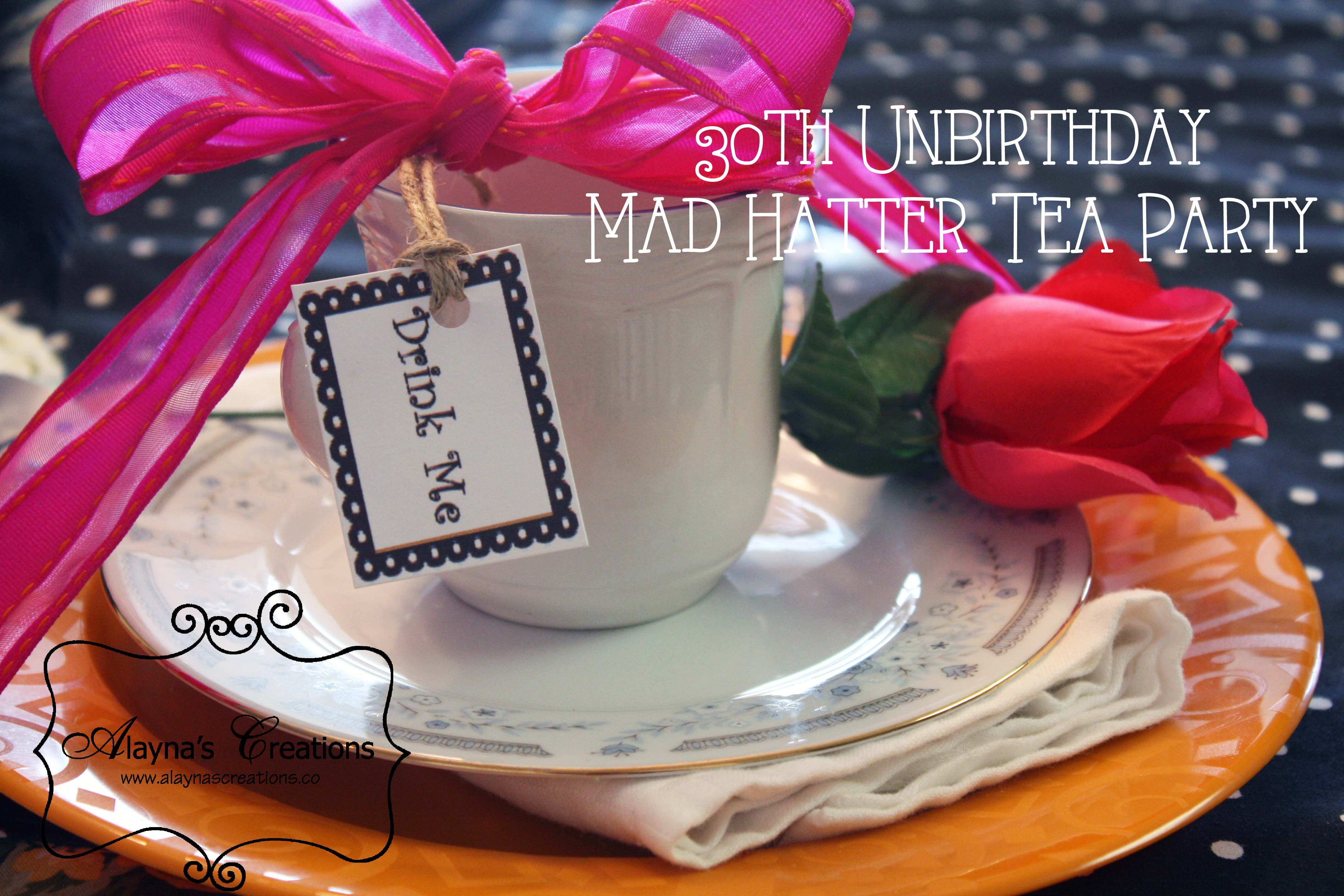 30th birthday un birthday mad hatter tea party diy home decor and alice in wonderland mad hatter tea party place setting izmirmasajfo Images