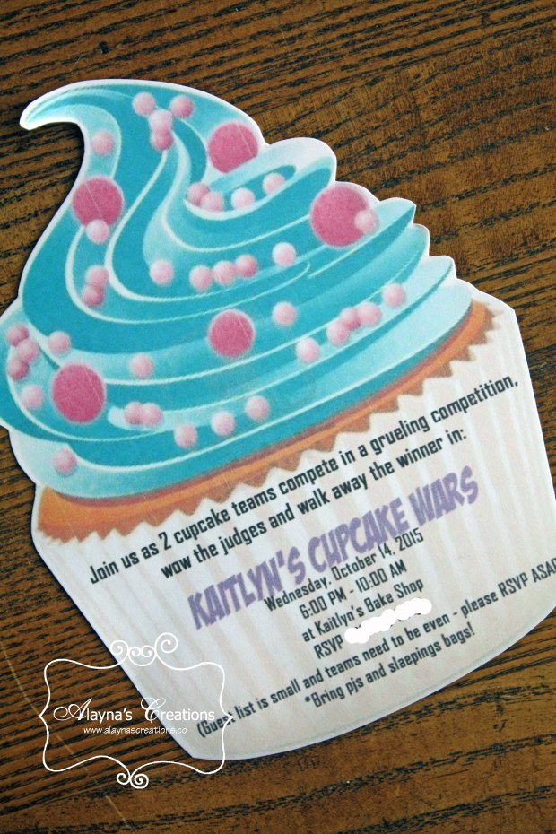 Cupcake Party Invitation Cupcake Wars Birthday Party
