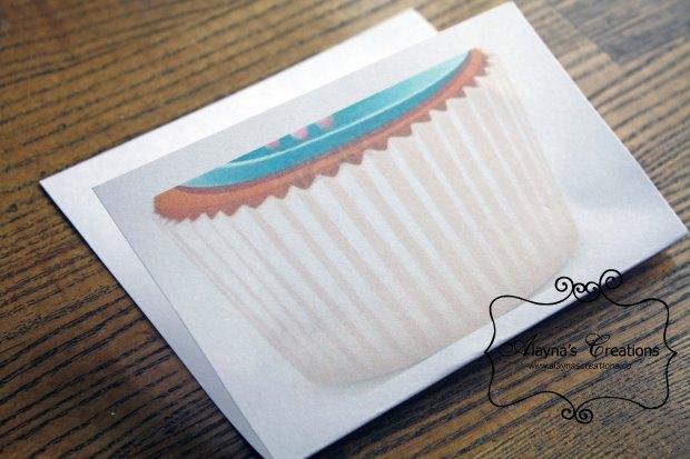 Cupcake Party Invivation Cupcake Liner Envelope
