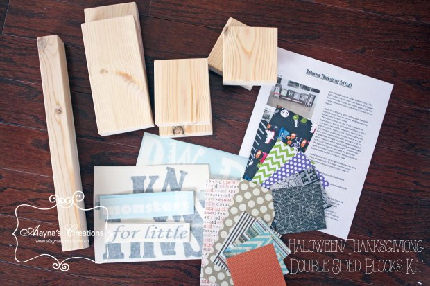 Halloween Thanksgiving Double Sided Blocks Kit