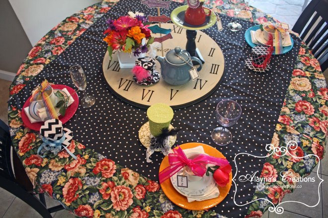 Mad Hatter Tea Party Birthday Party Tablescape