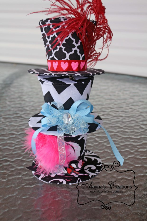 Mad Hatter Tea Party Hair Fascinator Mad Hatter Mniature Hat