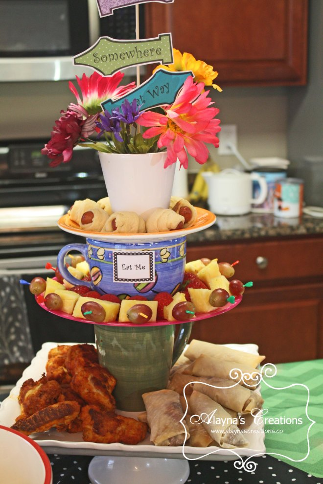 Mad Hatter Tea Party Stacked Tea Cup Food Display