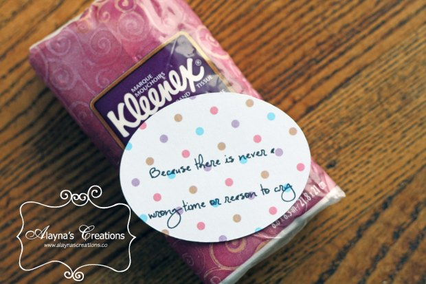 Pregnancy Survival Kit Tissues because there is never a wrong time to cry