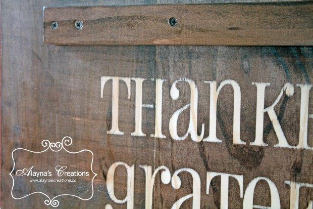 Thankful Thanksgiving Front Porch Sign DIY Tututorial