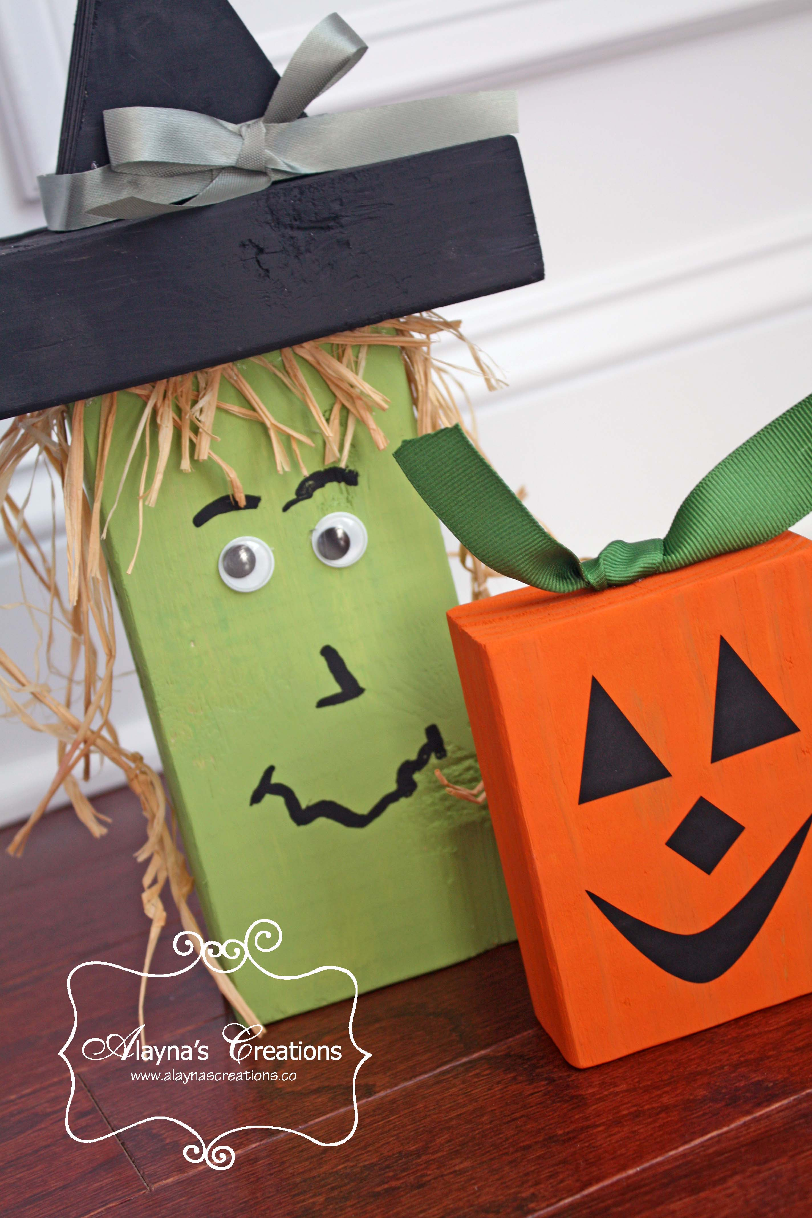 Front porch decorations archives diy home decor and crafts 2x4 wooden crafts for halloween witch and pumpkin easy diy solutioingenieria Image collections