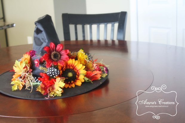 A Glammed Up Witch Hat makes a great centerpiece for Halloween decorating or parties
