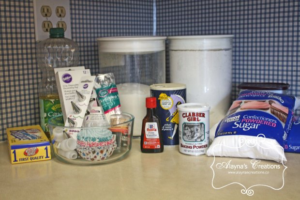 Baking Supplies for Cupcake Wars Birthday Party cupake baking supplies