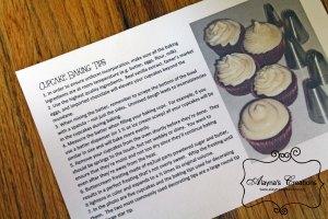 Cupcake Baking Tips Sheet for Cupcake Wars Birthday Party