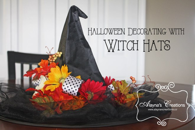 Halloween decorating with Witch Hats