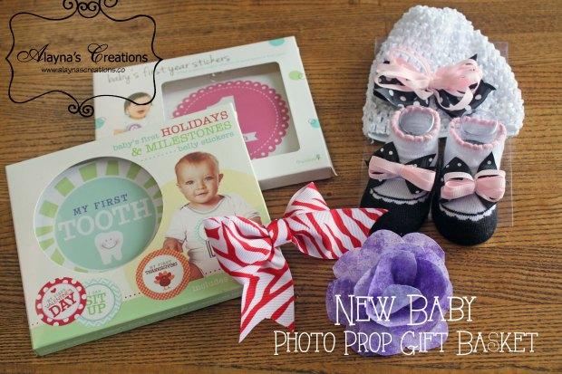 New Baby Photo Prop Gift Basket
