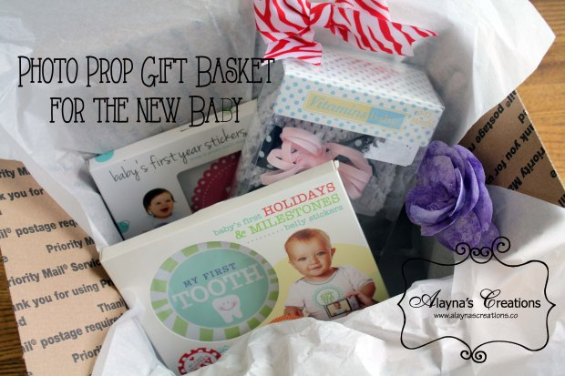 Photo Prop Gift Basket for the new baby
