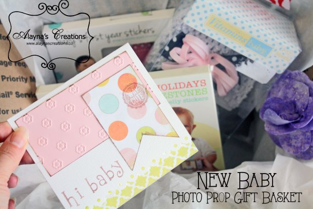 Photo Prop Gift Basket is a great idea for the proud parents of a new baby or as a baby shower gift