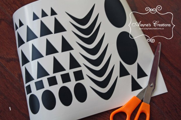 Vinyl Shapes for 2x4 Halloween Wood Craft