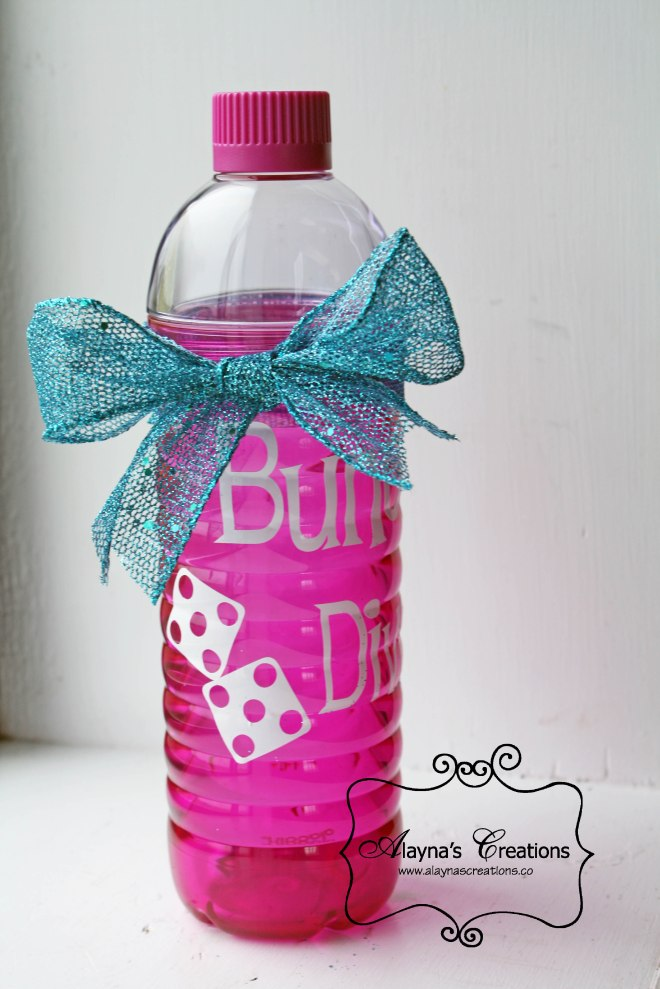Bunco Diva Customozed water bottle for gift idea