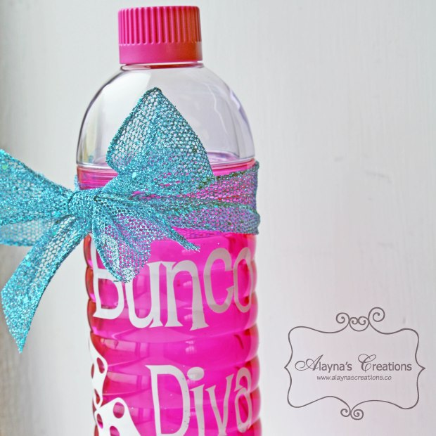 Bunco Diva Water Bottle White Elephant Gift