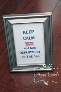 Deployment Survival Kit Framed Keep Calm Printable