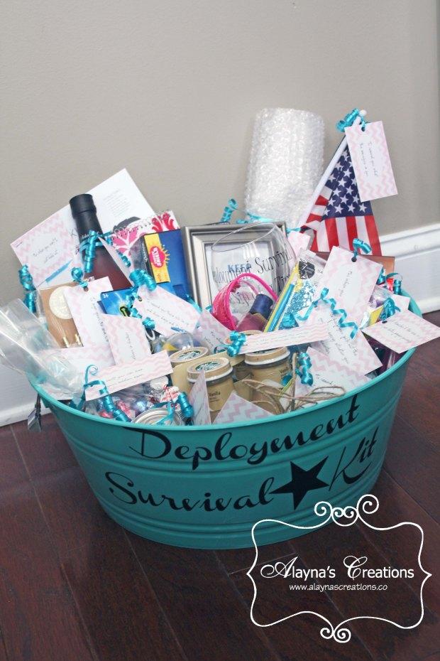 Deployment Survival Kit gift basket idea DIY