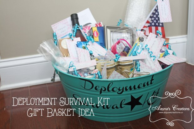 Deployment Survival Kit Gift Basket Idea