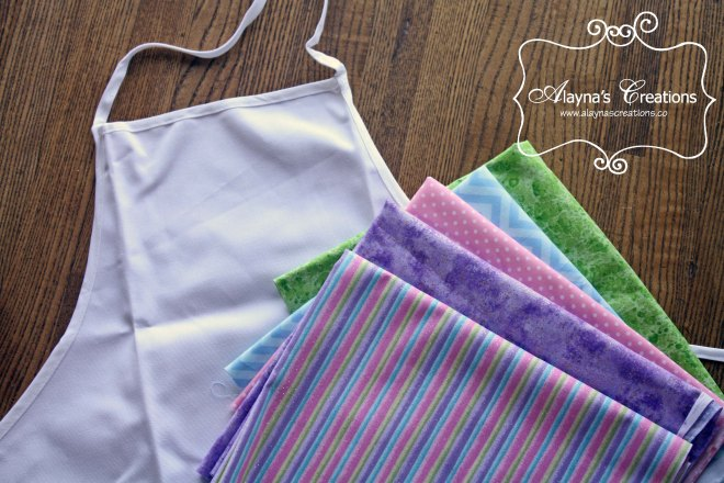 Easy sewing tutorial for ruffled cupcake aprons All you need is an inexpensive apron from the craft store and some fabric for embellishment