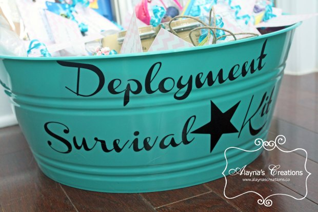 Gift Basket Idea for spouse of a military member being deployed Deployment Survival Kit
