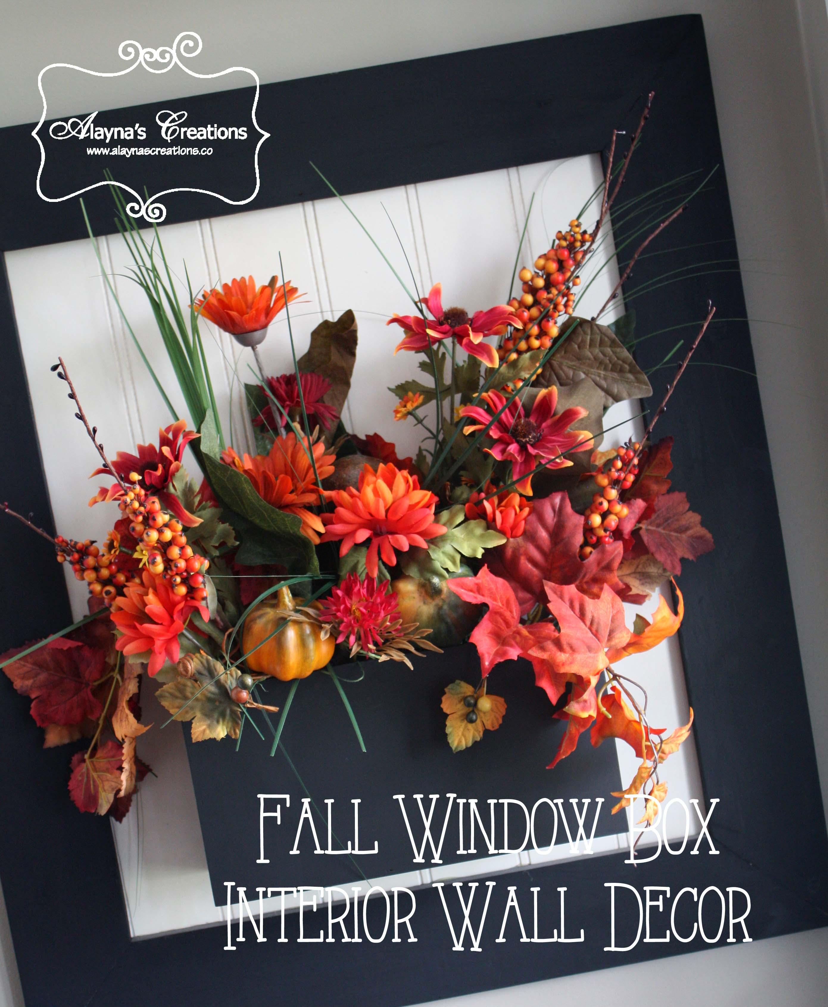 Fall Window Box: Fall Window Box Wall Decor
