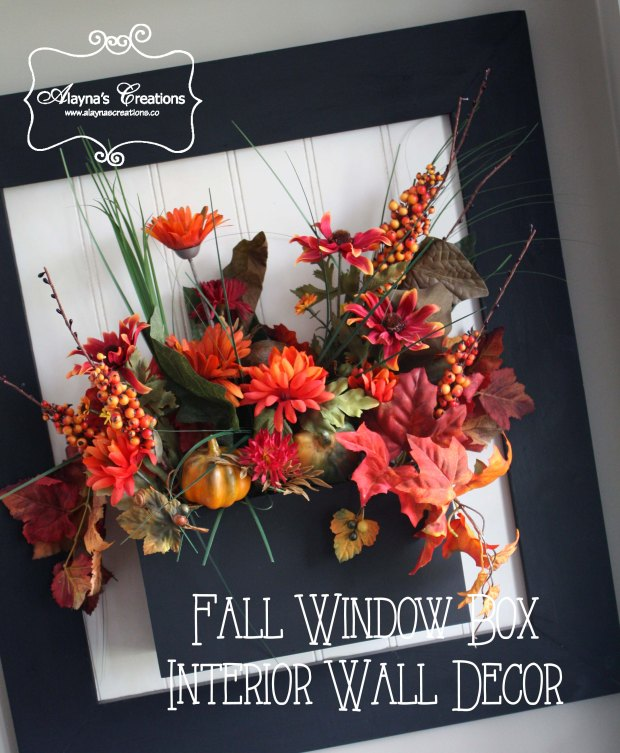 Interior Window Box Fall Halloween or Thanksgiving Decorating Idea