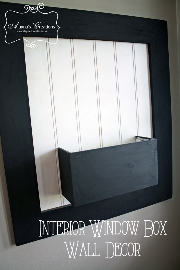 Interior Window Box Wall Decor DIY Project