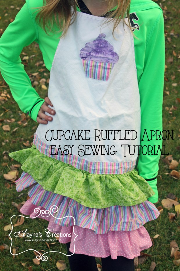 Ruffled Cupcake Apron for Cupcake Wars Birthday Party Easy sewing tutorial