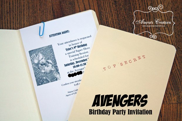 Avengers Birthday Party Invitation Tutorial