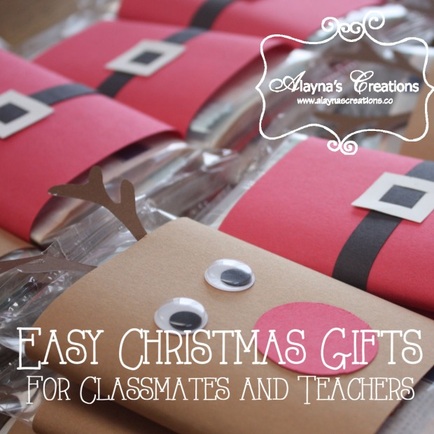 Easy Christmas Gifts for Teachers and Classmates with a little help from my Silhouette