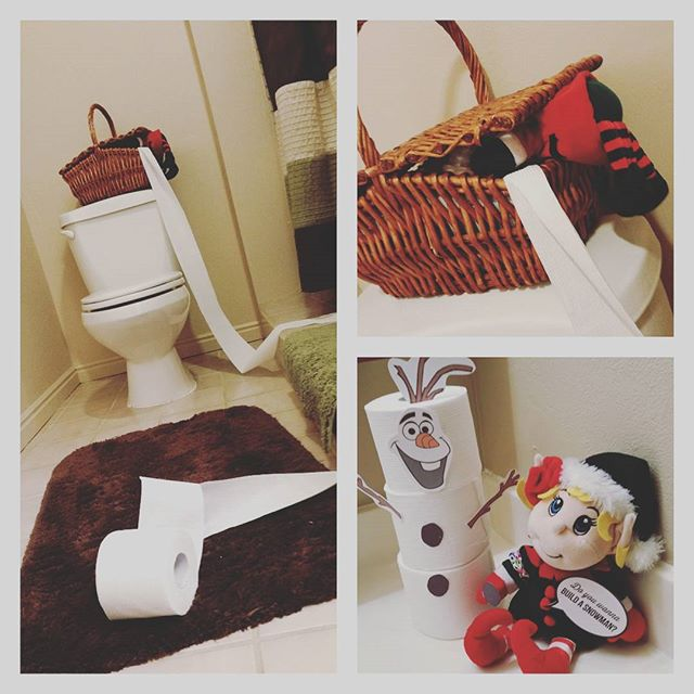 Elf on the Shelf Ideas Do You Want to Build a Snowman toilet paper Olaf printable