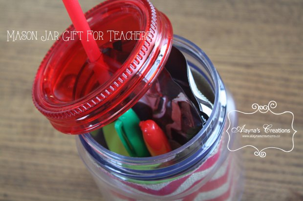 Mason Jar Gift for Teachers Christmas or Teacher Appreciation Gift in a Cup