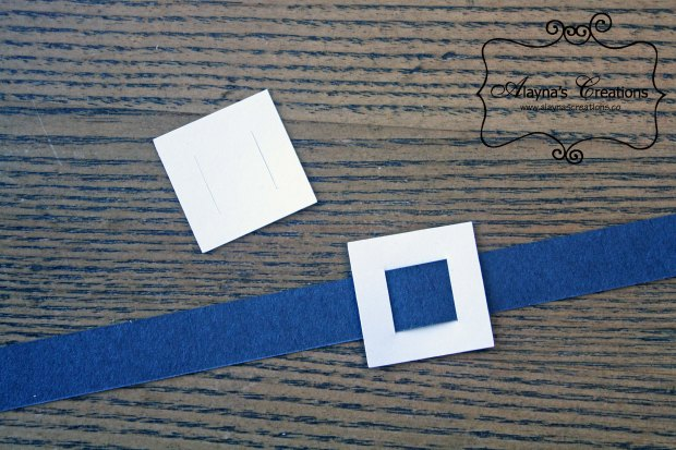 Santa belts made out of construction paper using the silhouette machine