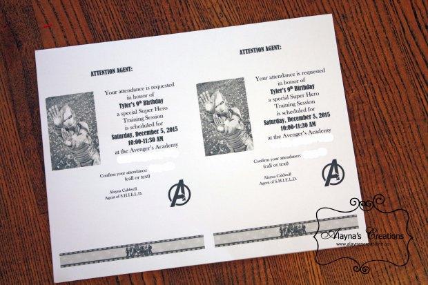 Super Hero Training Birthday Party Invitation Iron Man
