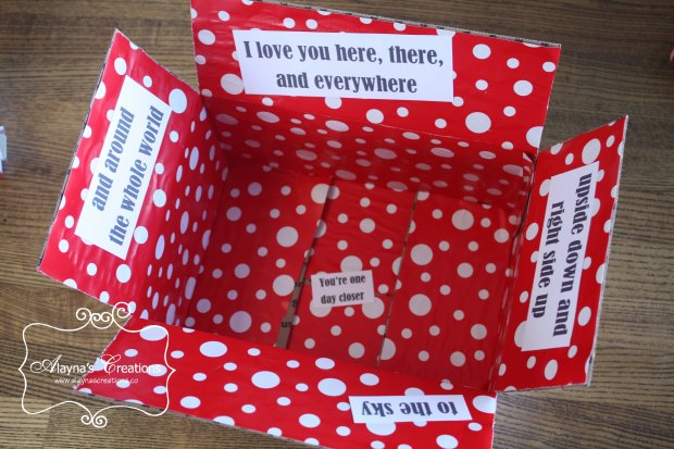 Care Package Ideas How to Decorate the inside of the box AlaynasCreations