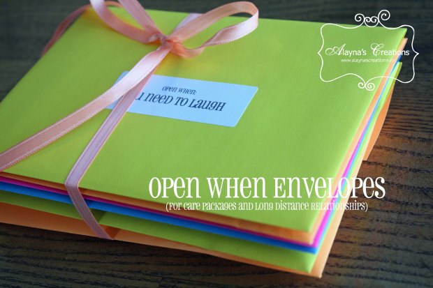 Open When Envelopes for Deployment Care Packages and Long Distance Relationships AlaynasCreations