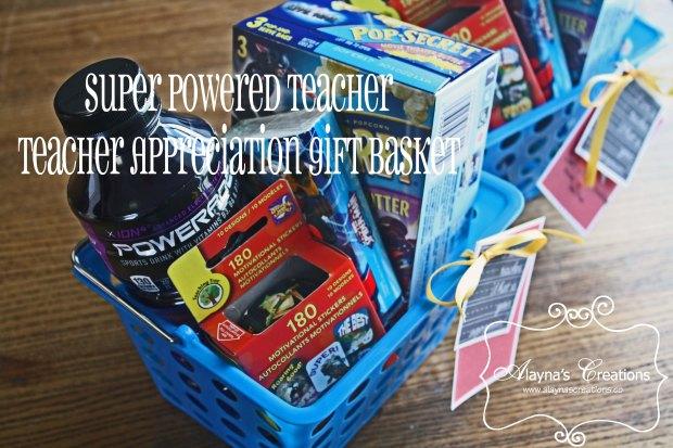 Super Powered Teacher Teacher Appreciation Gift Basket Teacher End of School Year Gift