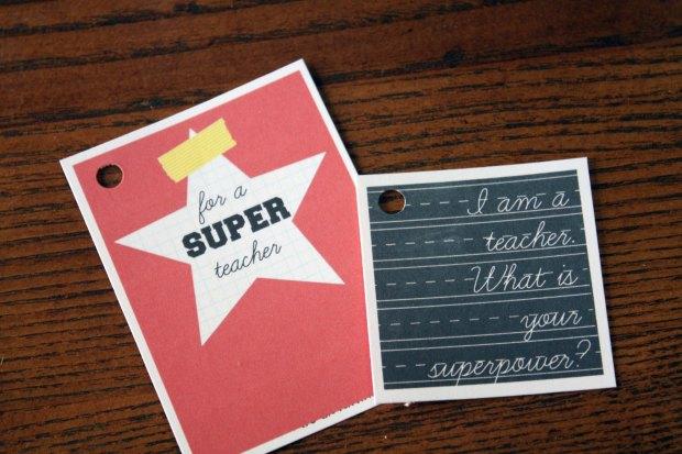 Super Teacher Teacher Appreciation Gift Tag AlaynasCreations