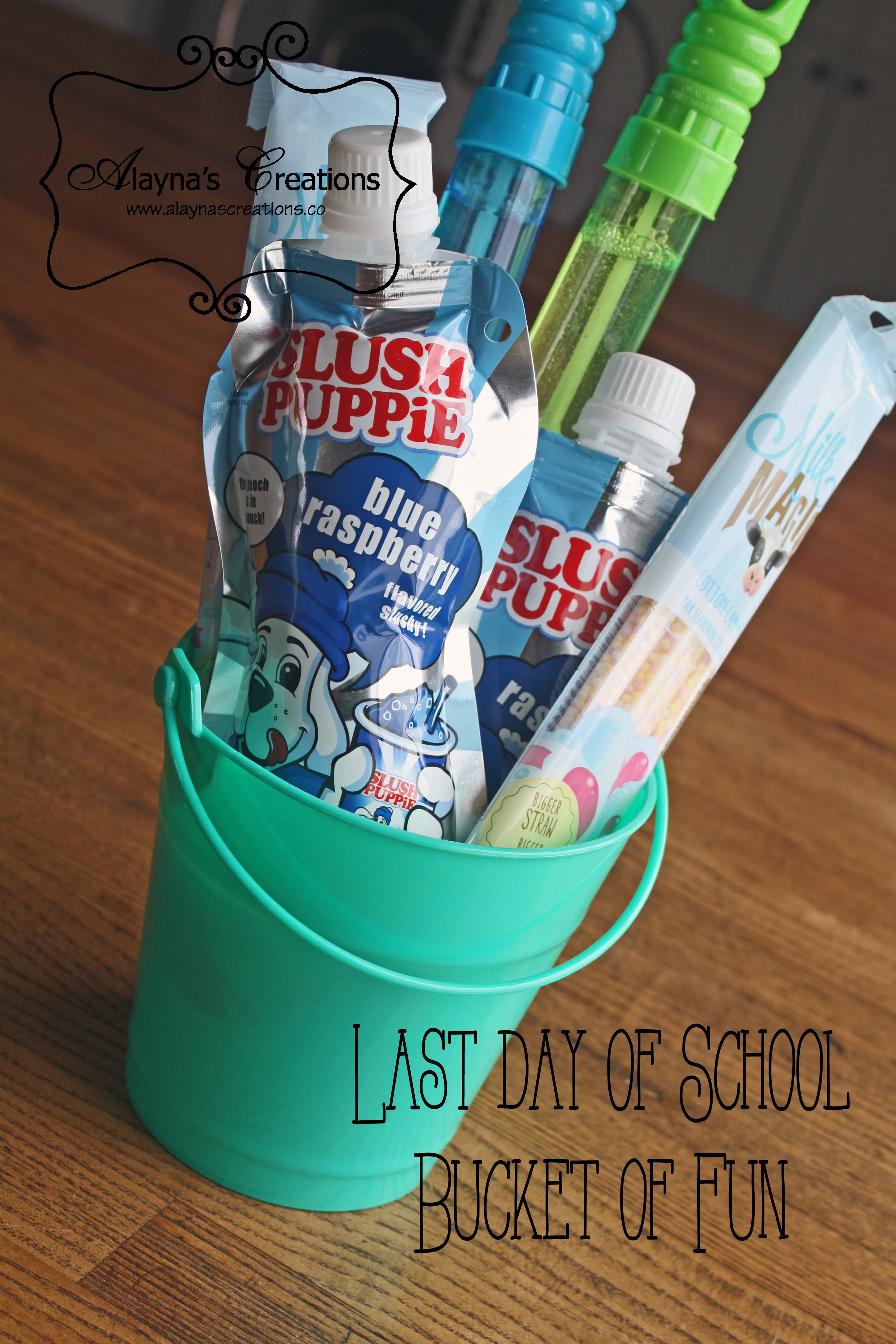Last Day of School Bucket of Fun for Summer gift idea for the kids AlaynasCreations