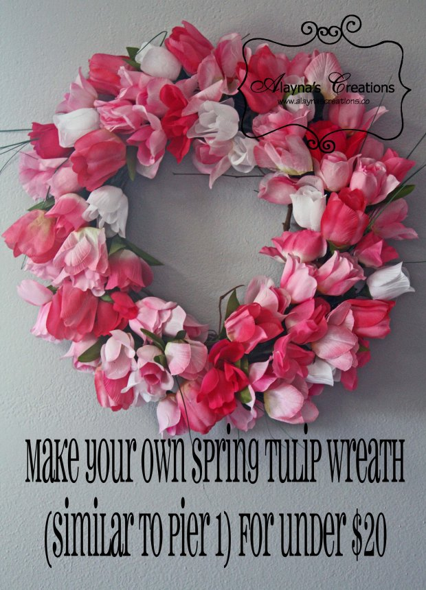 Make your own spring tulip wreath similar to Pier 1 for under $20 AlaynasCreations
