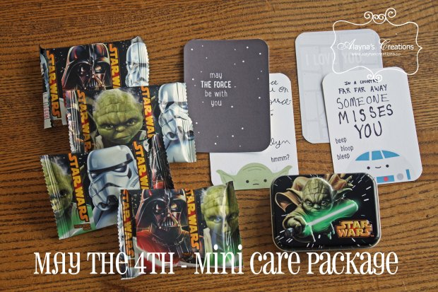May the 4th Mini Care Package Idea Star Wars Themed small care package idea May the Force Be With You AlaynasCreations