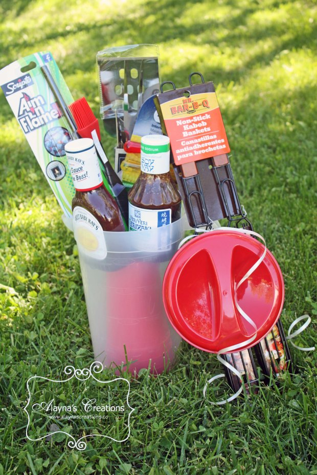 BBQ Themed Summer Gift Basket Patriotic for 4th of July
