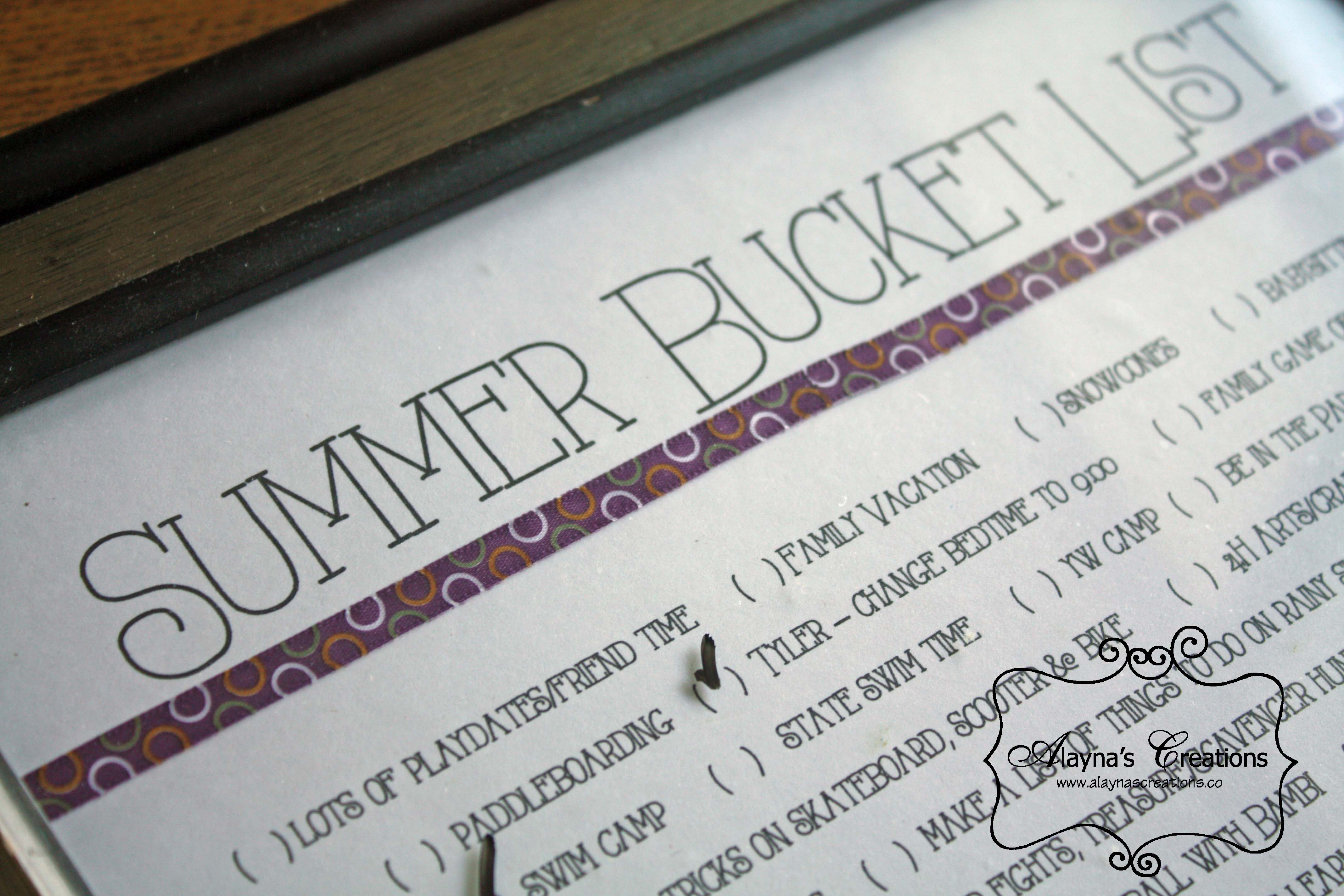 Bucket List Summer Fun with the kids